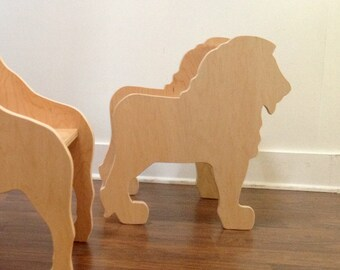 Lion Chair -ready to ship- from The Child's Menagerie Furniture Collection by Paloma's Nest