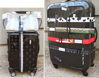 Double-sided luggage strap