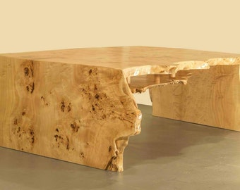 Burr Poplar coffee table