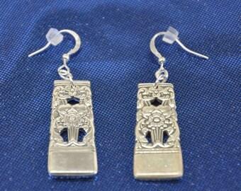 Coronation Silver Spoon Earrings