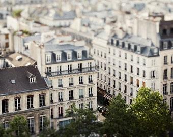 "Rooftops in Le Marais, Paris Print, Paris Photography Print, Large Wall Art, French Wall Decor, Travel Photography  ""Petit Paris"""