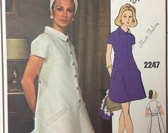Vintage 60s Vogue Paris Original 2247 Laroche Mod Dress Sewing Pattern Size 10 Uncut FF