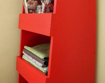 Storage Bin Shelf Woodworking Plans