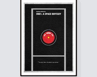 2001: A Space Odyssey Minimalist Alternative Movie Print & Poster
