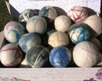 Handmade Felted Wool Dryer Balls