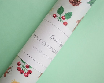 gift wrap paper - set of 3 - eco-friendly - Christmas - wrapping paper