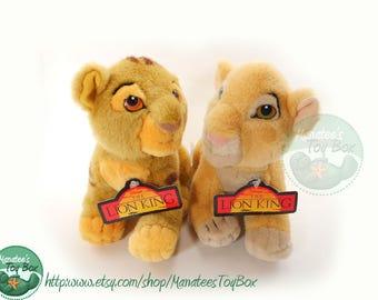 NWT Vintage Simba and Nala Cub Plush Toys from Disney Store: Lion King Toys