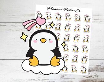 Penguin Planner Stickers // Valentine's Day // 038