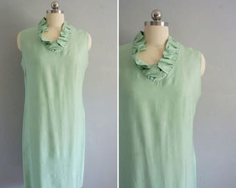 vintage Hart-Albin shift dress | vintage dress | vintage green dress