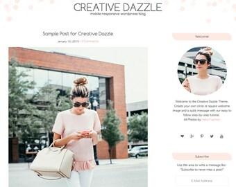 Creative Dazzle Theme, wordpress theme, wordpress template, dots, wordpress blog design, wordpress blog theme, responsive wordpress theme