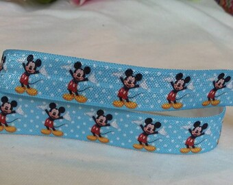 "3 yards,  5/8""Mickey mouse design fold over elastic"