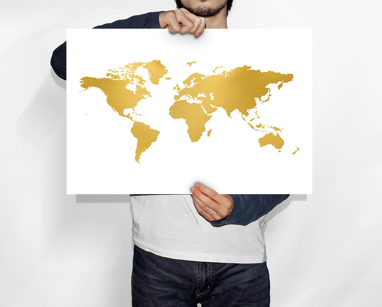 Gold world map world map gold world map poster world map zoom gumiabroncs Images