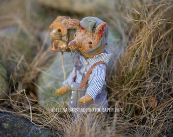 Crazy hare,  teddy bear, bears, teddy artist, vintage style, vintage plush,  textile art, soft sculpture, stuffed