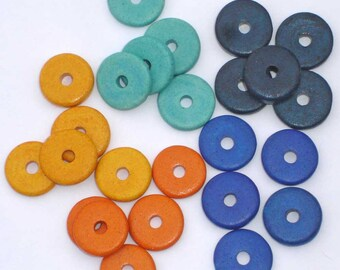 25 x Seville mix - Mykonos Greek ceramic 13mm color selection