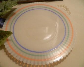 Vintage Petalware Monax Platter Pastel Striped
