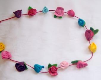 Children's Flower Necklace / Girls Jewellery / Jewelry