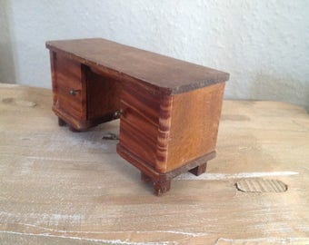 Antique desk for Dollhouse/Doll House 1:12 scale