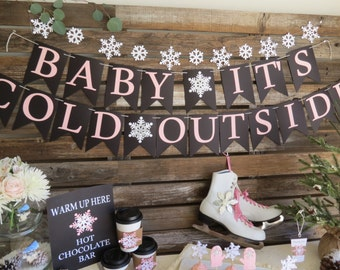 Baby It's Cold Outside Banner - Baby Its Cold Outside, Baby Shower Banner, Winter Baby Shower
