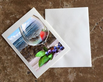 The Good Life By The Water Blank Notecard