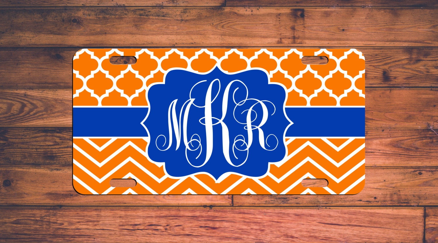 FLORIDA GATORS Monogram License Plate Monogrammed Car Tag