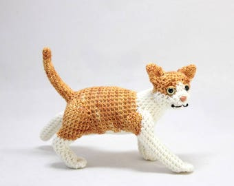 Orange and White Tabby Cat Doll