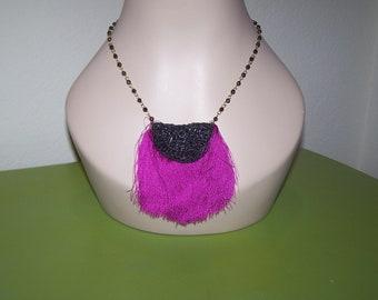handmade necklace fringe and beads