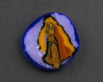 Female Study Murrine Boro Murrina Cabochon  - 124
