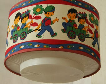 Vintage  childrens bedroom pendant lamp
