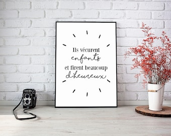 Poster print french quote