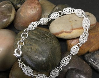 925 silver bracelet. All occasions. Elegant. Gift for her.