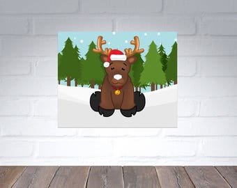 Pin the Red Nose on the Reindeer Christmas Party Game digital file