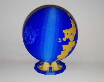 Azeroth Globe World of Warcraft Dual Color