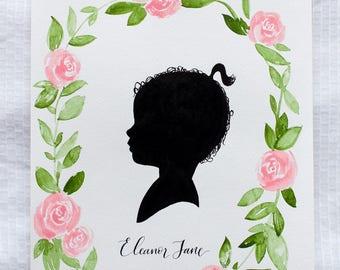 Custom Floral Silhouette