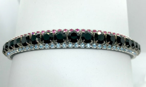 Black, Pink, & Aqua Sugar Skulls  Style Bling Rhinestone Dog Cat Pet Collar + JuJu Bean Bandanna Halloween Costume  USA
