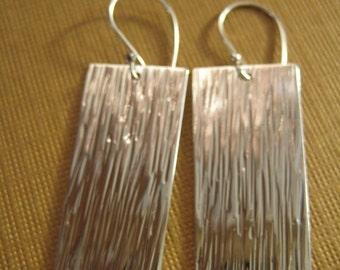 Wide field earrings sterling