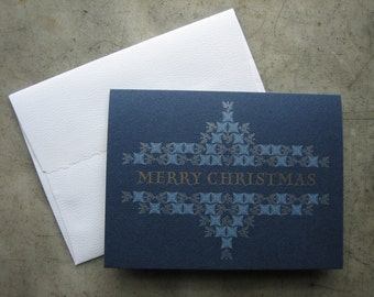 A-2 Size Letterpress Christmas Cards - box of 10