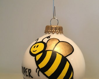 Bumblebee Bee Movie Bumble Christmas Ornament Handpainted