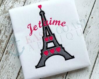 JE T'AIME machine embroidery design