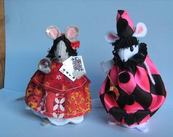 Circus Mice  Pair Felt Mouse, Giselle & Henri