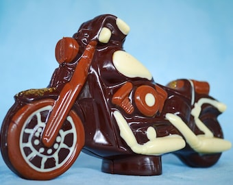Hand-made Belgian Chocolate Harley Davidson