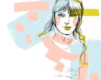 Marianne Faithfull- Illustration/Art Print