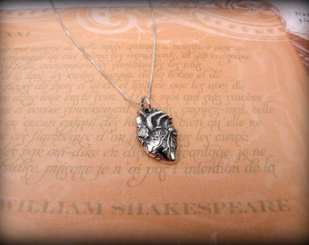 Anatomical heart necklace, heart necklace, heart survivor necklace, heart doctor