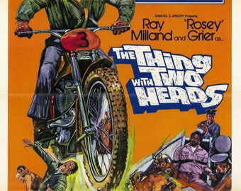 The Thing with Two Heads (1972) movie poster 11 x 17 Ray Milland Rosey Grier sci-fi comedy cult blaxploitation Don Marshall camp classic