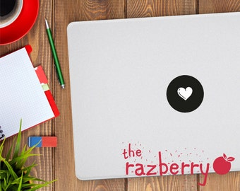 Heart Icon Macbook Decal Sticker Love Heart Macbook Decal Macbook Pro Macbook Air Vinyl Sticker Shapes Circle Triangle Square Diamond Decal