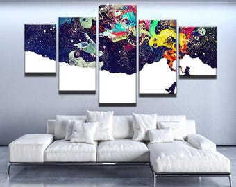 Higher Thoughts Canvas Set Abstract Canvas Set Abstract Wall Decor Weed Canvas Set Weed Wall Decor Weed Poster Cannabis Canvas Set