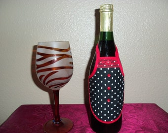 Cute polka dot bottle apron. Great gift.