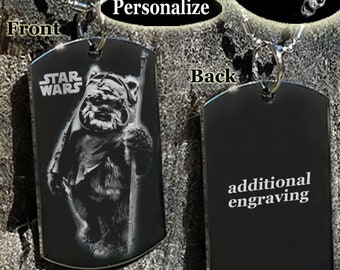 Star Wars Wicket Dog tag Necklace or Key Chain / Pet ID tag + FREE ENGRAVING