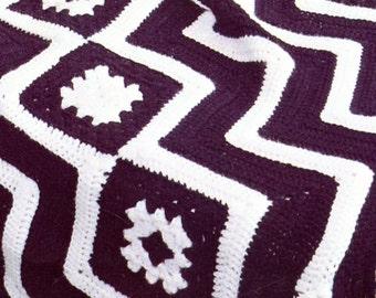 1970's Geometric American Indian Crochet Blanket Pattern