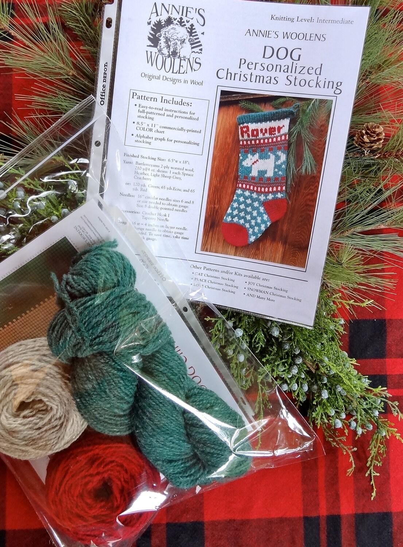 Pet DOG Christmas Stocking Holiday Knitting KIT