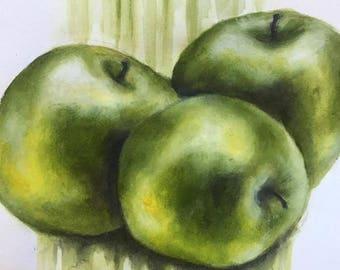 Shiny Green Apples  (29th January 2018)